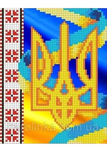 Герб Украины: Набор для вышивания бисером купить в knigozirka.com.ua