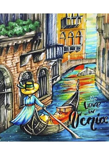 """Набор алмазной вышивки """"Love in Venice"""" купить в knigozirka.com.ua"""